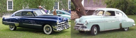 1949 Cadillac and Chevrolet fastback sedans