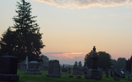 Sunrise, North Burial Ground, Bristol, RI (1920 x 1200 pixels)